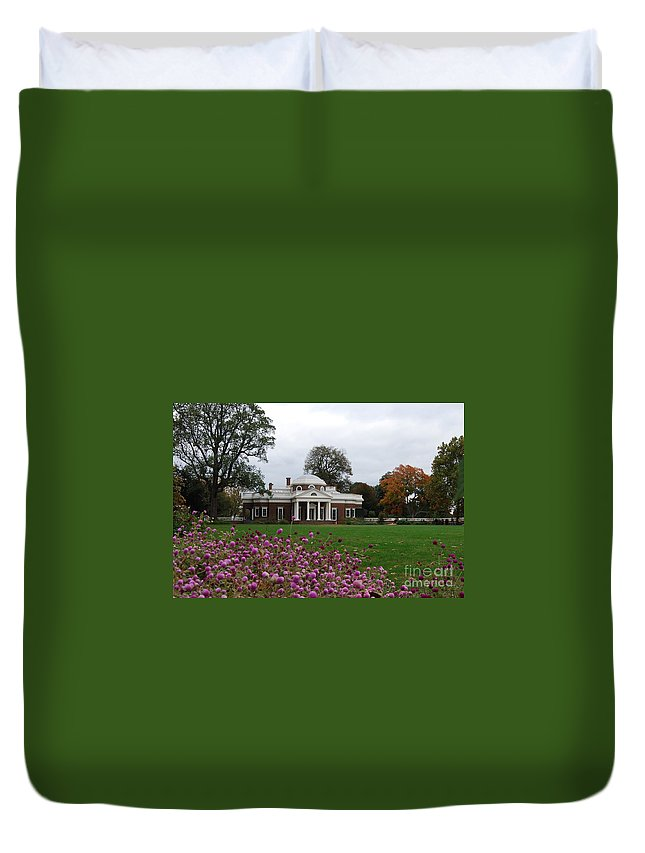 Fall Duvet Cover featuring the photograph Monticello by Eric Liller