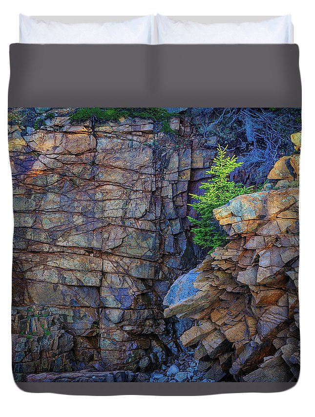 Monument Cove Duvet Cover featuring the photograph Monument Cove I by Rick Berk