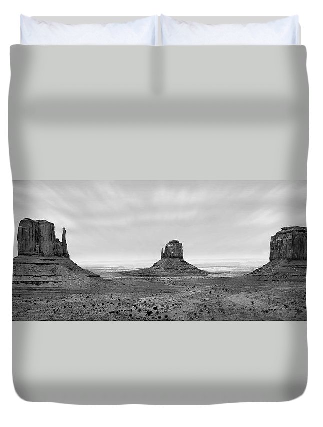 Landscape Duvet Cover featuring the photograph Monument Valley by Mike McGlothlen