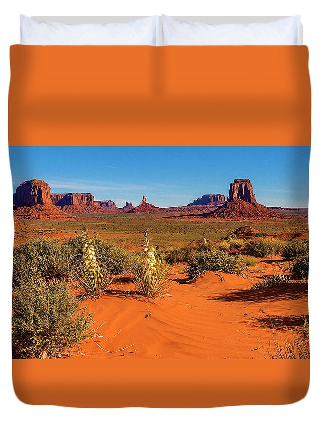 Monument Valley Duvet Cover featuring the photograph Monument Valley by Norman Hall