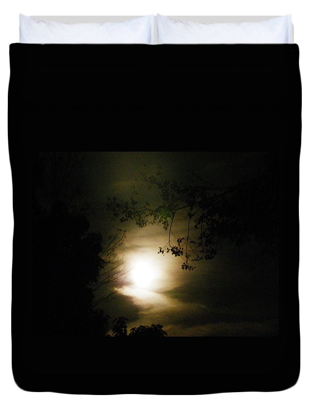 Nature Duvet Cover featuring the photograph Moon Glow by Peggy King