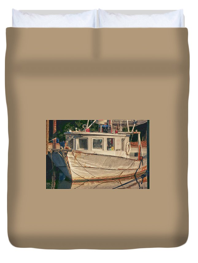 Fairhope Duvet Cover featuring the digital art Moon Pie by Michael Thomas