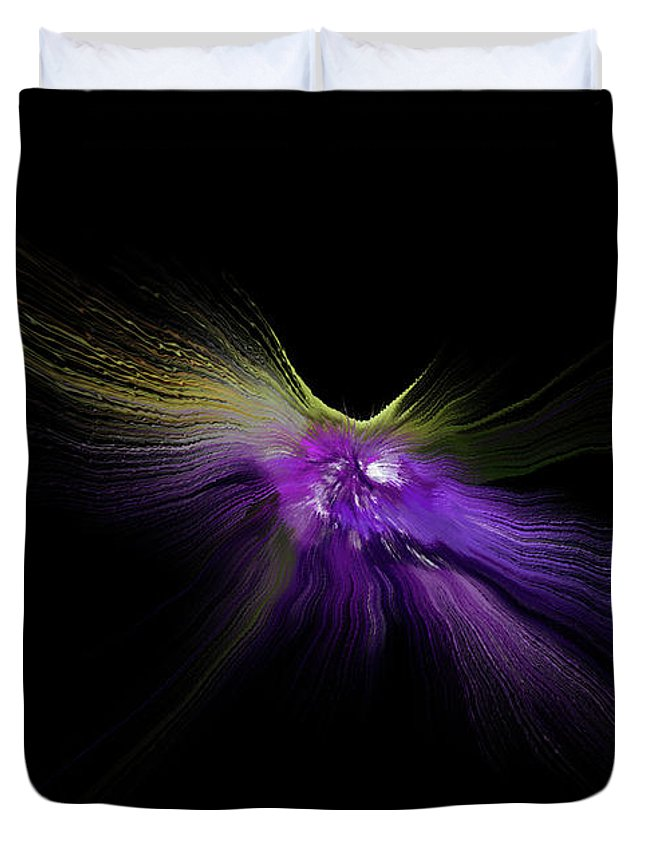 Digitalimage Duvet Cover featuring the digital art Moonfly by Tony Svensson