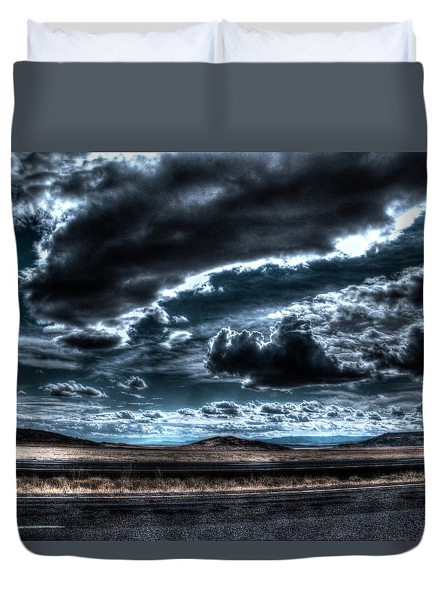 Moon Duvet Cover featuring the photograph Moonglow by Doc Hafferty