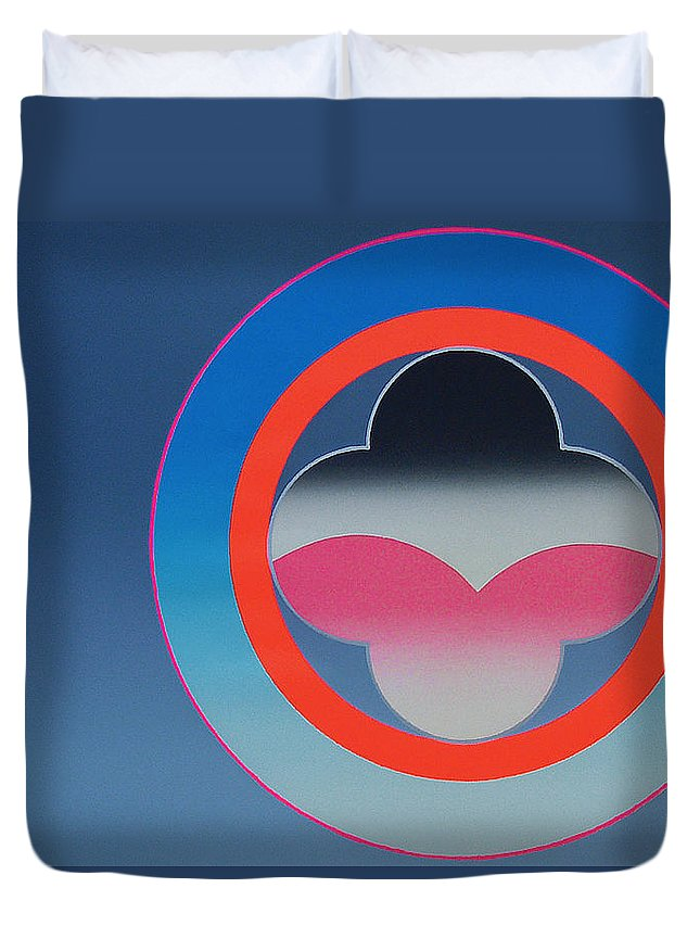 Church Duvet Cover featuring the mixed media Moonlight by Charles Stuart