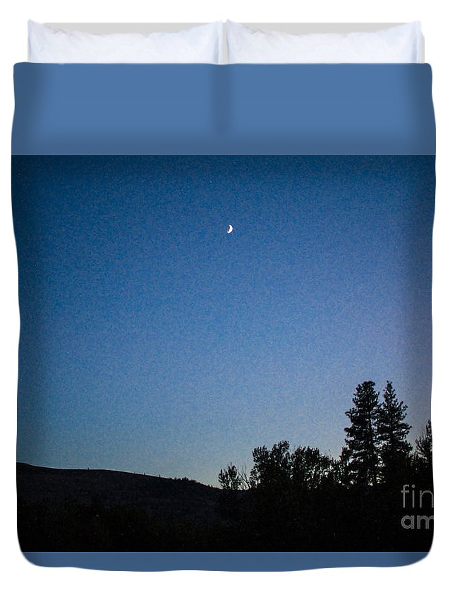 2x3 (4x6) Duvet Cover featuring the photograph Moonlight Mirage Methow Valley Landscapes By Omashte by Omaste Witkowski