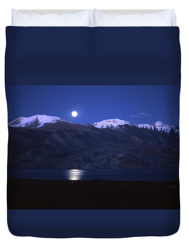 Moon Duvet Cover featuring the photograph Moonlight Sonata by Patrick Klauss