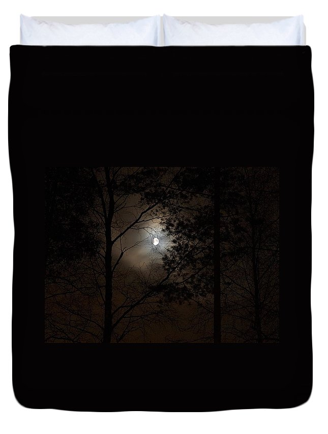 Lehtokukka Duvet Cover featuring the photograph Moonshine 01 by Jouko Lehto