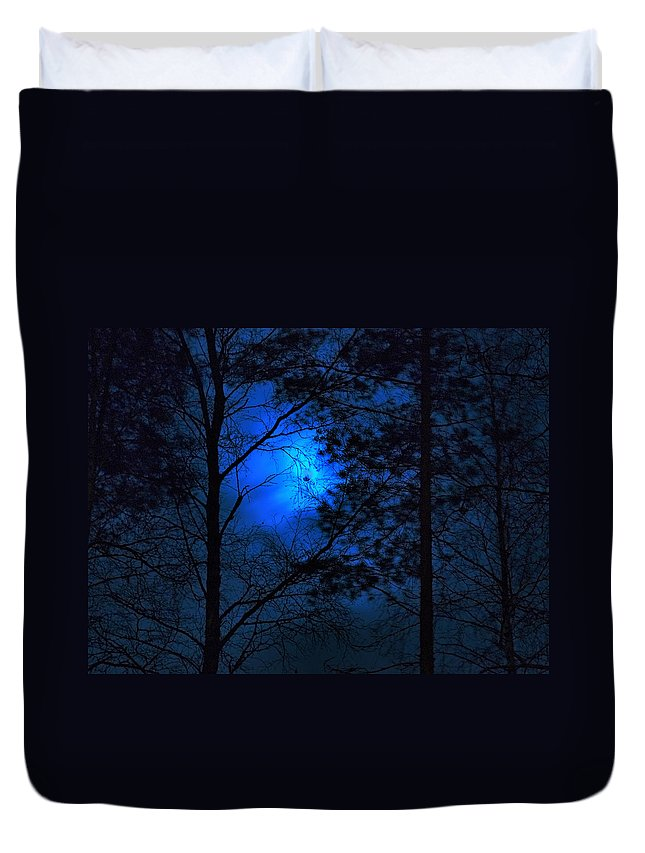 Lehtokukka Duvet Cover featuring the photograph Moonshine 03 Bad Moon Rising by Jouko Lehto