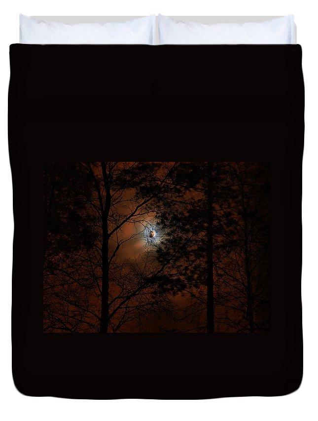 Lehtokukka Duvet Cover featuring the photograph Moonshine 04 Bad Moon Rising by Jouko Lehto