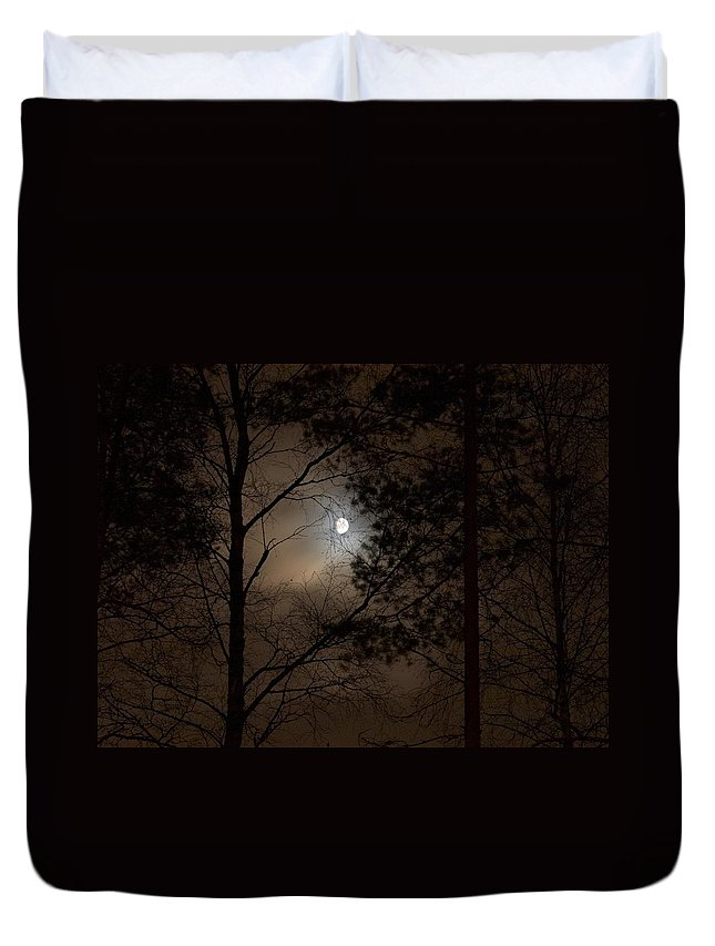 Lehtokukka Duvet Cover featuring the photograph Moonshine 05 by Jouko Lehto