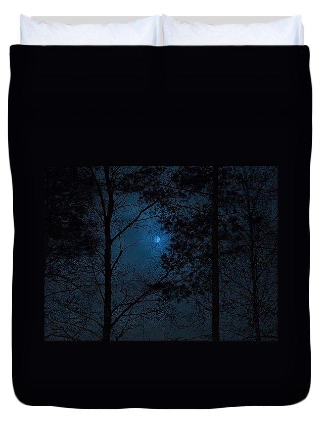Lehtokukka Duvet Cover featuring the photograph Moonshine 06 by Jouko Lehto