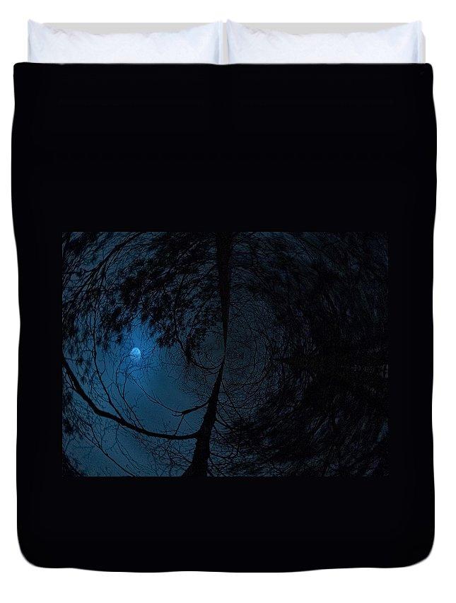 Lehtokukka Duvet Cover featuring the photograph Moonshine 15 Fishy by Jouko Lehto
