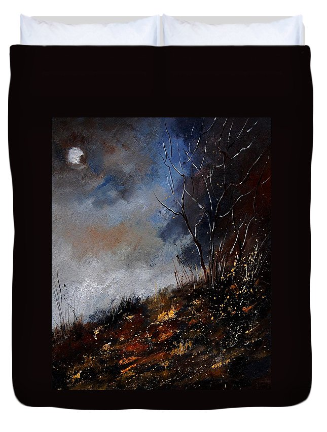Winter Duvet Cover featuring the painting Moonshine 45901190 by Pol Ledent