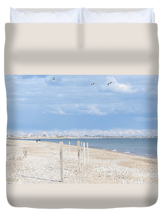 Natanson Duvet Cover featuring the photograph Moonstone Beach by Steven Natanson