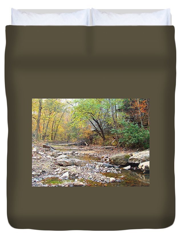 Moore\'s Creek Duvet Cover featuring the photograph Moore's Creek by Terry Anderson
