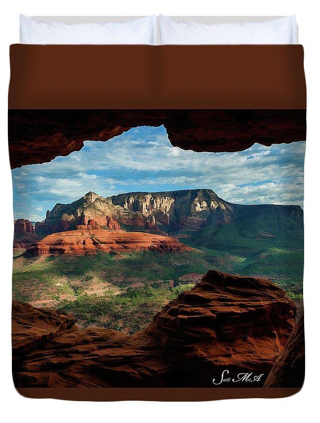 Sedona Duvet Cover featuring the photograph Moose Ridge 06-056 by Scott McAllister