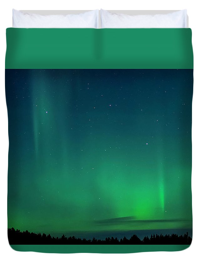 Marquette Duvet Cover featuring the digital art More Lights by Bradley J Nelson