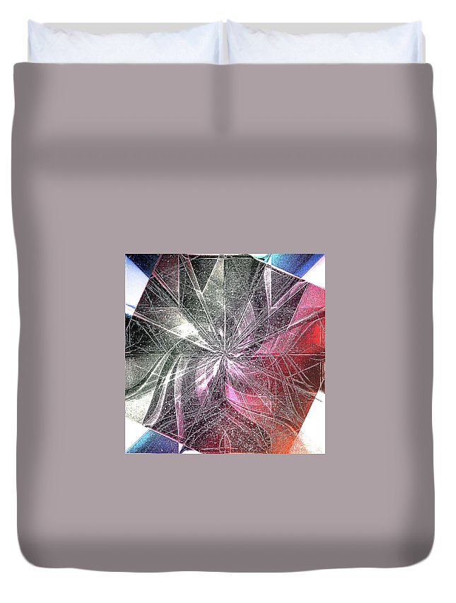 Digital Duvet Cover featuring the digital art More Shattered Art by Andy Young