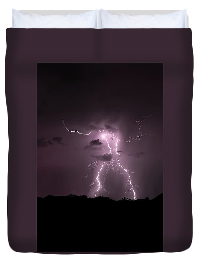 Duvet Cover featuring the photograph More Than Meets The Eye by Kathleen Prince