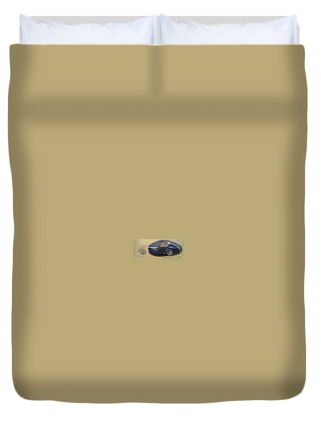 Cars Duvet Cover featuring the painting Morgan Aero by Richard Le Page