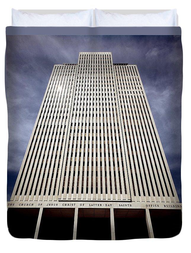 Mormon Duvet Cover featuring the photograph 212x01-mormon World Headquarters by Ed Cooper Photography