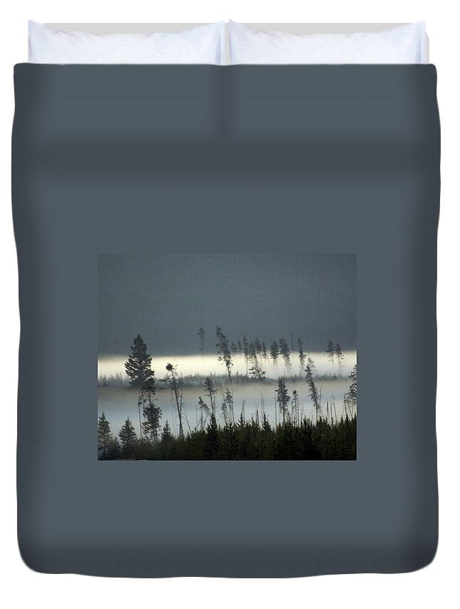 Yellowstone National Park Duvet Cover featuring the photograph Morning Along The Madison by Marty Koch