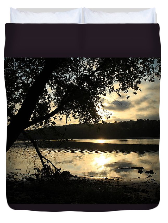 Sunrise Duvet Cover featuring the photograph Morning Arises by Karol Livote