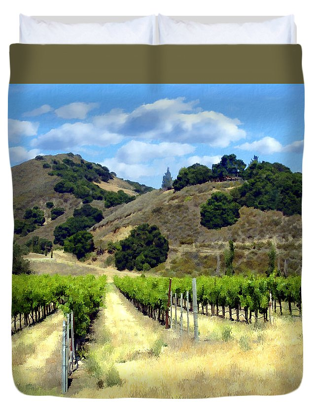 Vineyards Duvet Cover featuring the photograph Morning At Mosby Vineyards by Kurt Van Wagner