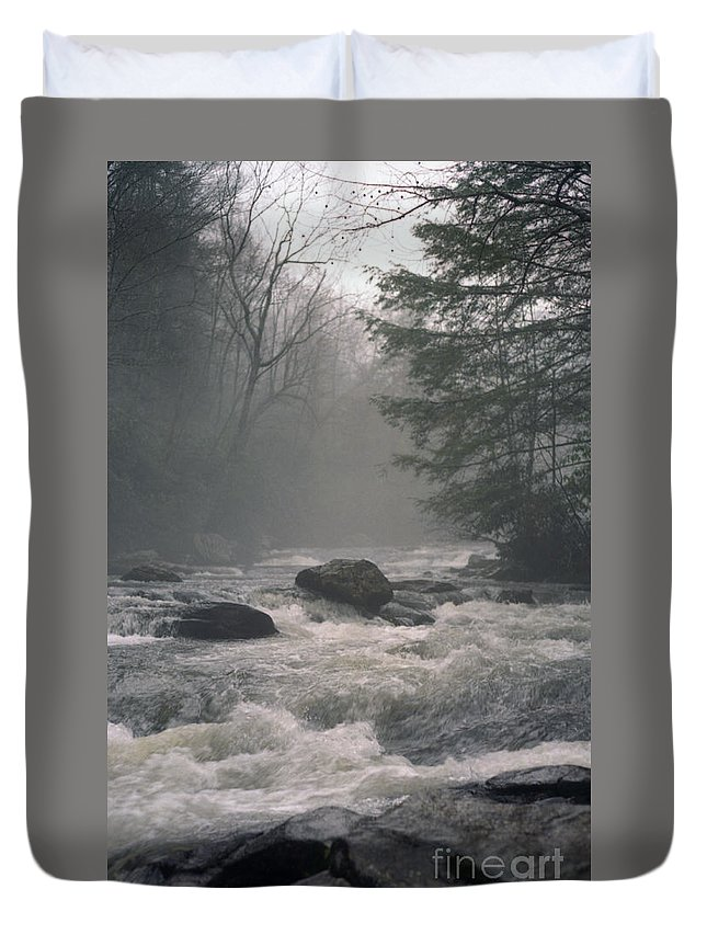 Rivers Duvet Cover featuring the photograph Morning At The River by Richard Rizzo