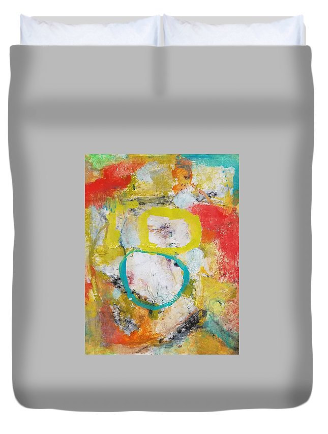Abstract Duvet Cover featuring the painting Morning Calm by Patricia Byron