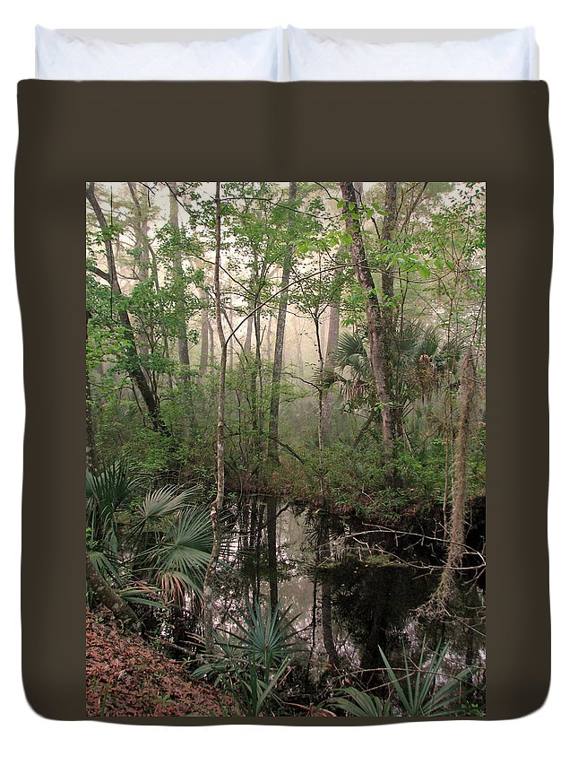 Nature Duvet Cover featuring the photograph Morning Comes Softly by Peggy Urban