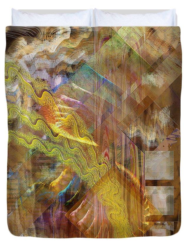 Morning Dance Duvet Cover featuring the digital art Morning Dance by John Beck
