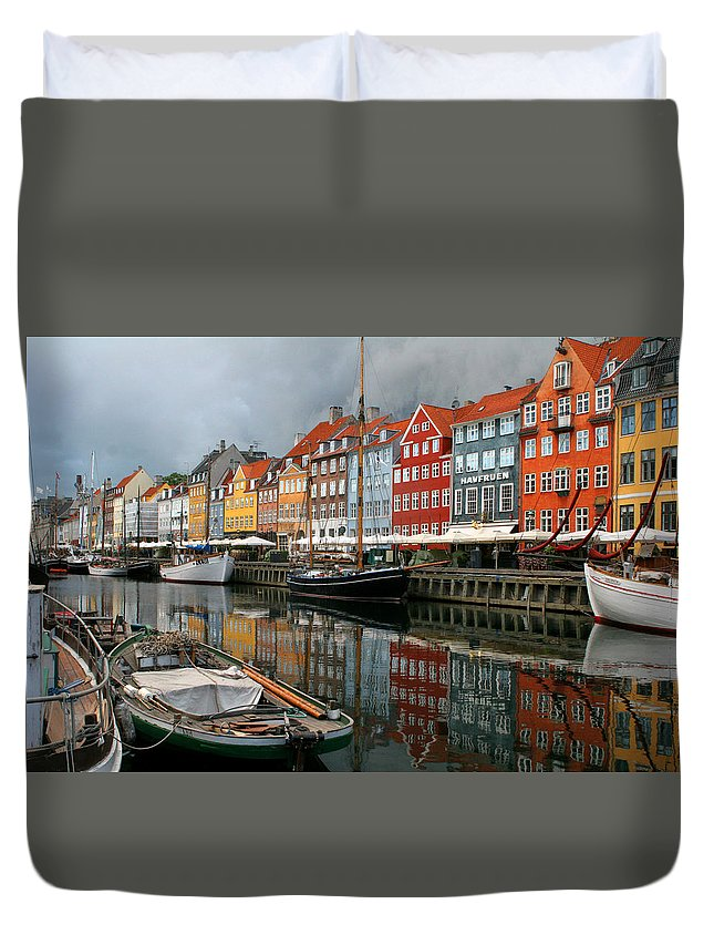 Tag Lines: Copenhagen Duvet Cover featuring the photograph Morning Danish by Terra Bella Fine Art Photography