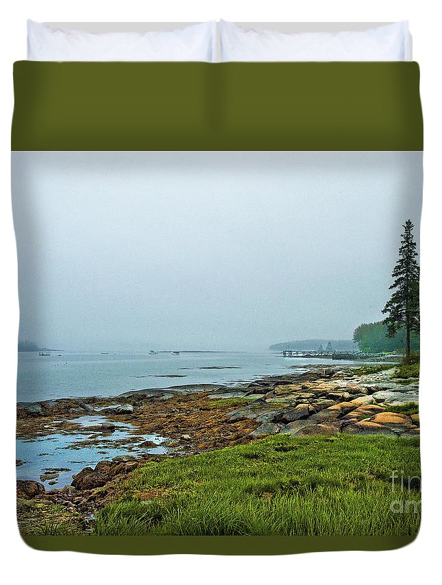 Duvet Cover featuring the photograph Morning Fog - Maine by Zbigniew Krol