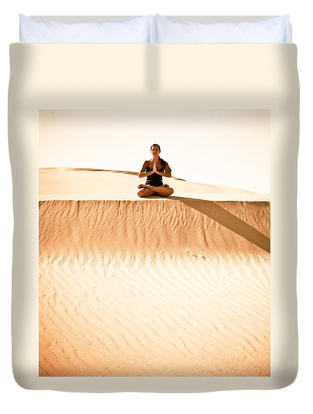 Yoga Duvet Cover featuring the photograph Morning Meditation by Scott Sawyer