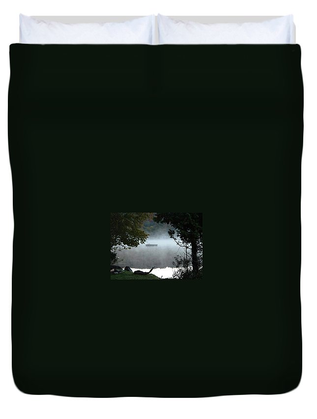 Lakes Duvet Cover featuring the photograph Morning Mist 1008 by Guy Whiteley