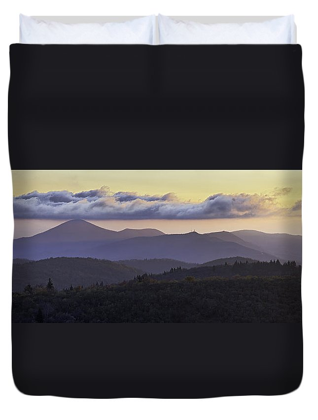 Pisgah Duvet Cover featuring the photograph Morning On The Blue Ridge Parkway by Rob Travis