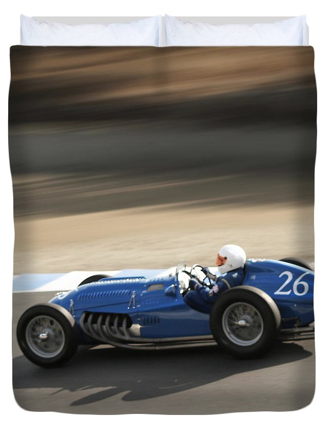 Talbot T26-c Duvet Cover featuring the photograph Morning Practice by Curt Johnson