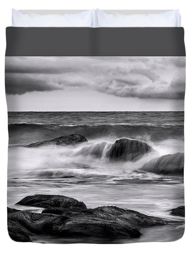 Art Duvet Cover featuring the photograph Morning Rage by Denise Dube
