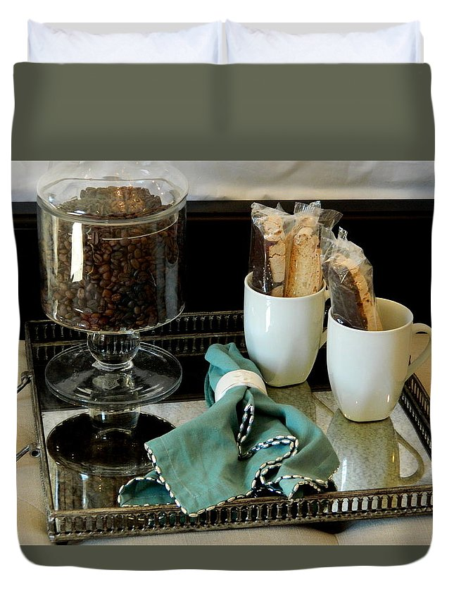 Still Life Duvet Cover featuring the photograph Morning Still Life by Arlane Crump