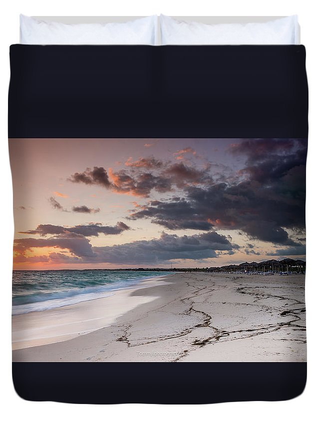 Lanscape Duvet Cover featuring the photograph Morning by Tommy Jaksic