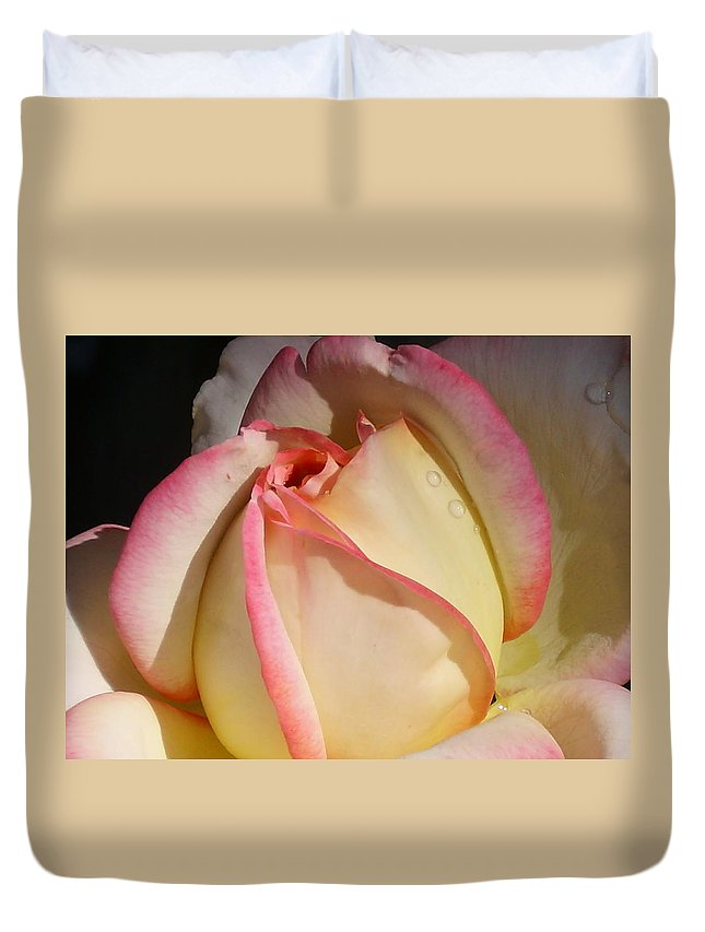 Rose Duvet Cover featuring the photograph Morning by Torie Beck