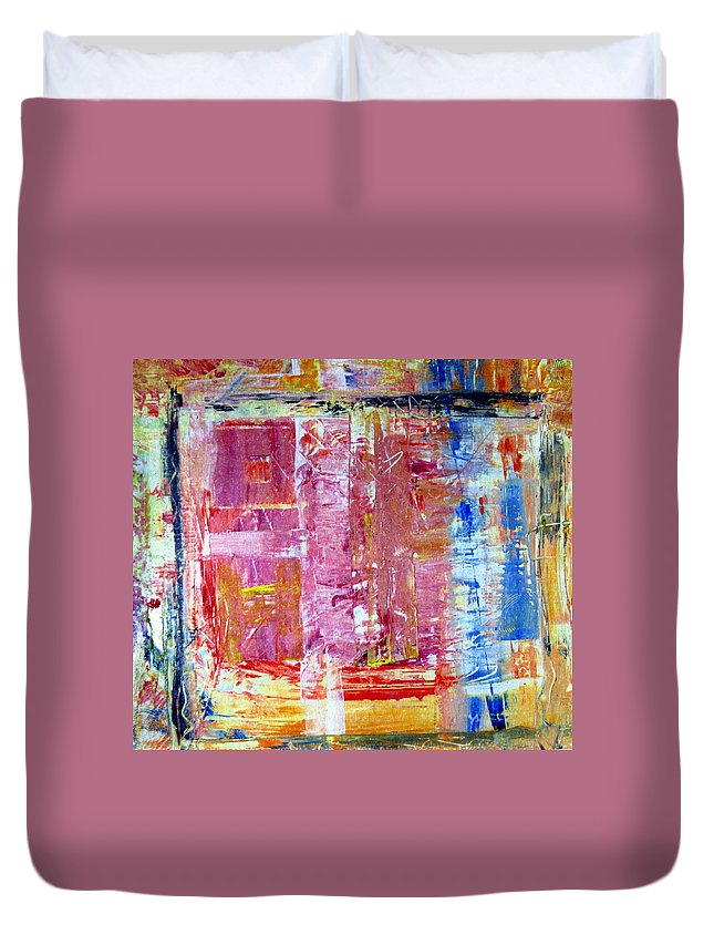 Abstract Duvet Cover featuring the painting Morning by Wayne Potrafka