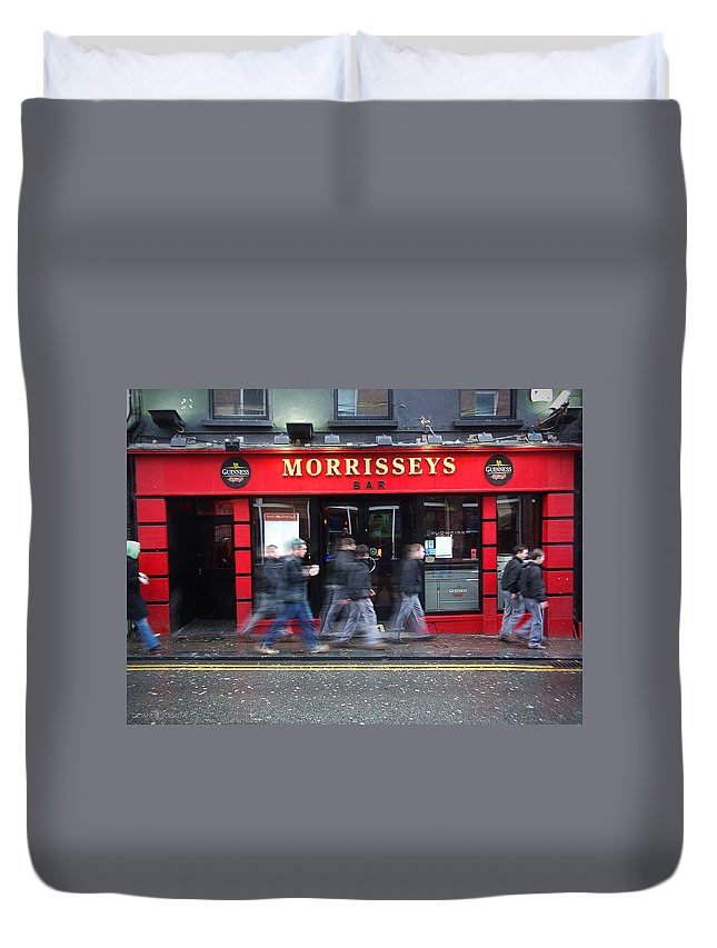 Pub Duvet Cover featuring the photograph Morrissey by Tim Nyberg