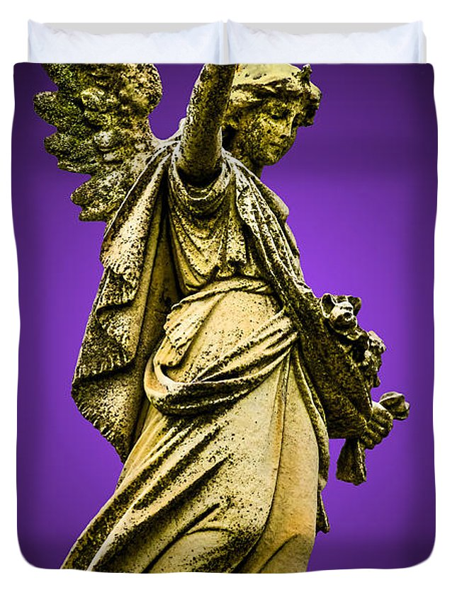 Angel Duvet Cover featuring the photograph Mortal Coil by Brian Stevens