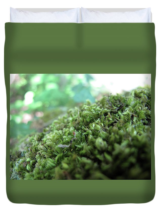 Nature Duvet Cover featuring the photograph Moss I by Stefania Levi