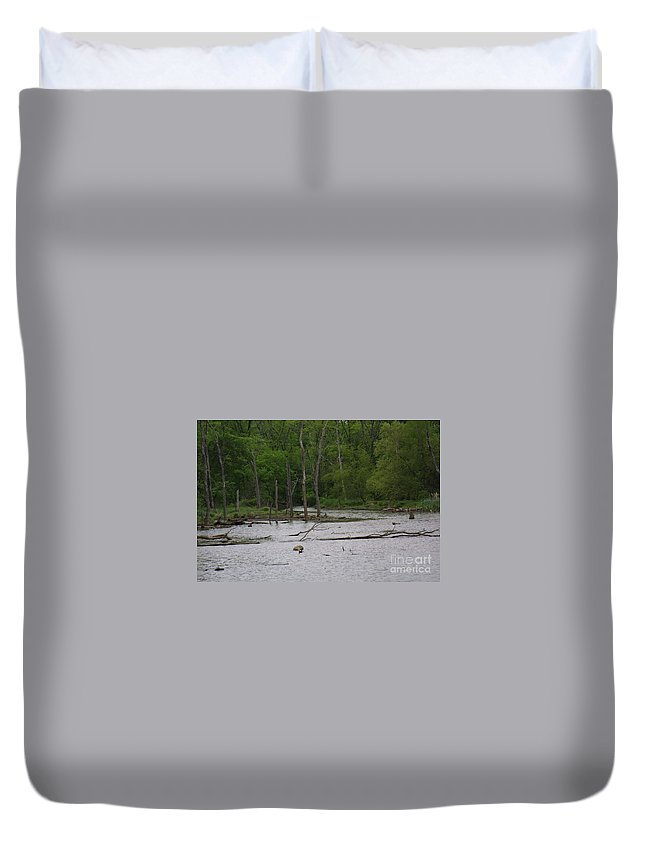 Highland Productions Llc Duvet Cover featuring the photograph Mossy Bog by Darren Dwayne Frazier