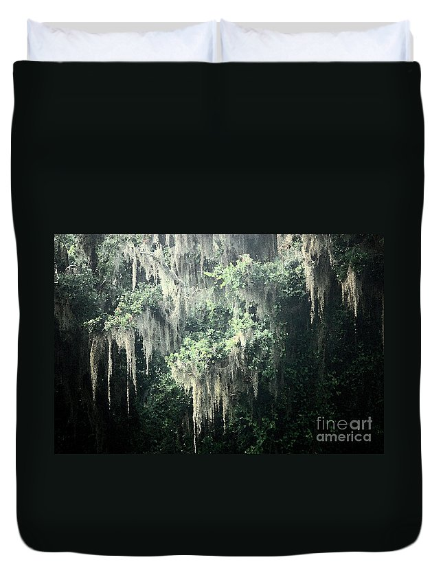 Nature Abstract Duvet Cover featuring the photograph Mossy Dream by Carol Groenen