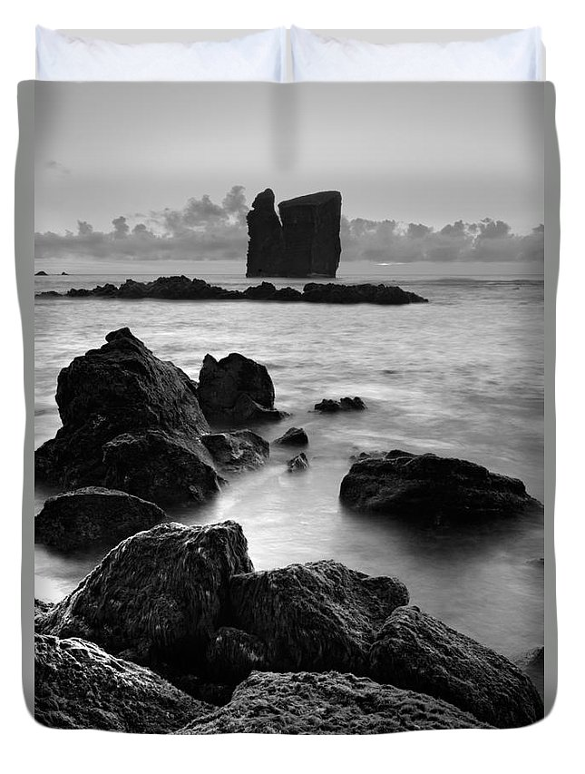 Azoren Duvet Cover featuring the photograph Mosteiros Islets by Gaspar Avila